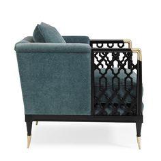 Кресло Lattice Entertain You с каркасом из дерева и металла, Caracole - Мебель МР