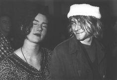 Kurt Cobain and Kathleen Hanna