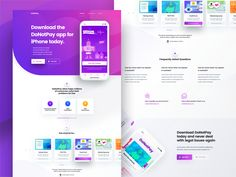 Dribbble - by Alex Banaga App Landing Page, Landing Page Design, Design Your Own Website, Motion App, Website Design Inspiration, Mobile Design, Show And Tell, Instagram Design, This Or That Questions