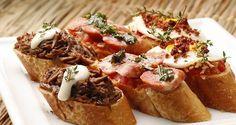 Comida de boteco. Ideia para servir carne seca e linguiça de modo pratico aos convidados