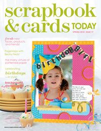 2010 - Spring - past scrapbook and cards magazine