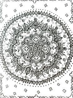 #18~MANDALAS Henna estilo Coloring Book a Color deja por ChubbyMermaid
