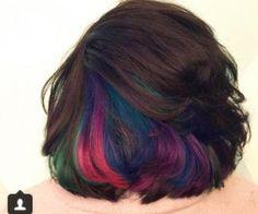 Underlights hide your rainbow hair...loving this idea                                                                                                                                                                                 More