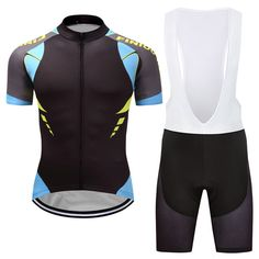 Men Team cycling jersey Bib short set Sport Clothing MTB Bike 9D Pad shorts  Set  484eaefbc