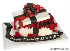 A Red & Black Birthday | Sweet Flamingo Cake Co.  www.sweetflamingo.com