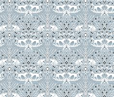 The Fox and the Hare fabric by emilydyerdesign on Spoonflower - custom fabric