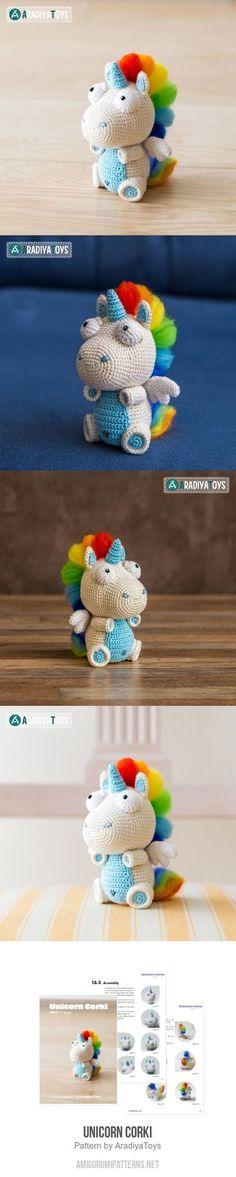 Unicorn Corki Amigurumi Pattern