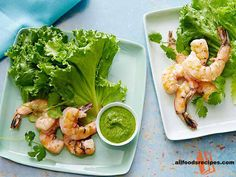 Grilled Shrimp with Serrano Mint Sauce – It's a funky and yummy super-fast recipe which will reinvigorate with your week rotation.    RECIPE : http://www.allfoodsrecipes.com/recipe/grilled-shrimp-serrano-mint-sauce/