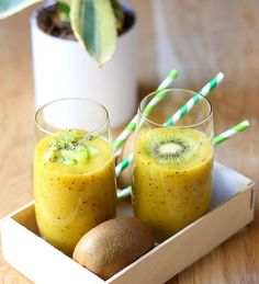 Smoothie kiwi et mangue