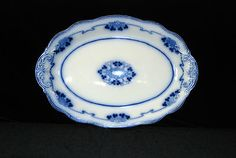 """Lorne Flow Blue 16"""" Oval Serving Platter WH Grindley Circa 1891 1914...like my Grandmother's"""