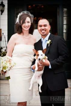 Cute wedding pup at Clifton Inn, photographed by Holland Photo Arts