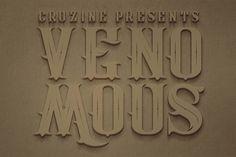 Venomous Typeface by Cruzine on @creativemarket