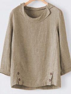 YUNY Men Slim Casual Panelled Long Sleeves Stylish Woven Shirt Coffee XL