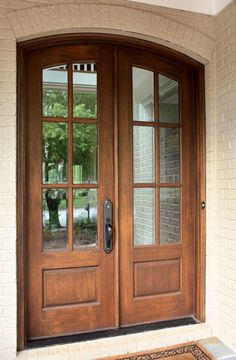 Tiffany Double Arched French Door