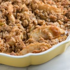 Apple Crisp: Absolutely delicious! I added a handful of craisins, a little extra cinnamon, a pinch of nutmeg and tossed on a few tablespoons of chopped pecans....YUMMM! -AG
