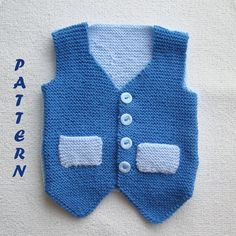Boys Business Waistcoat PDF Knitting Pattern