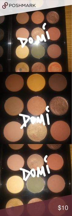 MAC SHADOW SELL (see colors below and choose) Neutral Brown colors Right side of pallete:  Row 1: brown script $5, burnt orange $9, cork *sold out*  Row 2: cordory $5, texture *sold out*, mulch *sold out*  Row 3: tete a tint $9, patina *sold out*, saddle *sold out*  Row 4: frill $9, flourishing *sold out*, swiss chocolate *sold out*  Row 5: motif $8, glama ray $9, stencil $6   ***Random pans***  Nile $5, melody $1, wondergrass $8, yogurt $3, girlie $5  Deal on multiple shadows chosen. Please…