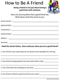Printables Free Printable Social Skills Worksheets For Kids life skills problem solving social resolver problemas friends worksheets