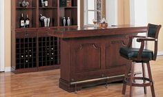 Baxton Studio Modesto Brown Modern Dry Bar and Wine Cabinet ...