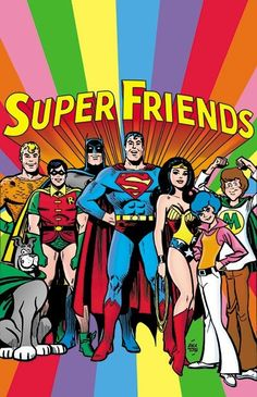 Super Friends was DC Comics' Justice League as a Saturday morning cartoon. This book was a tabloid-size salute to the show by its character designer Alex Toth. Cartoon Cartoon, Vintage Cartoon, Reading Cartoon, Cartoon Characters, 80s Cartoon Shows, Batman Cartoon, Vintage Tv, Old School Cartoons, Cool Cartoons