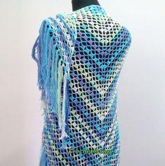 Crochet shawl / Triangleе / Wrap / Shawls and Wraps / Handmade / Lace crochet shawl / lacy / Lace /  Crochet stole / Crochet wrap shawl / Summer shawl / lace wraps / Cotton / Summer / Triangle / Triangular /  Boho / Infinity scarf /  Wedding / White / Purple / Green / Blue / Light  blue /  Fringes /  Prayer / Colorful / Multicolor / Multicolored / Etsy Summer Triangle, Lace Wrap, Wedding White, Crochet Shawl, Fringes, Shawls And Wraps, Infinity, Prayer, Light Blue