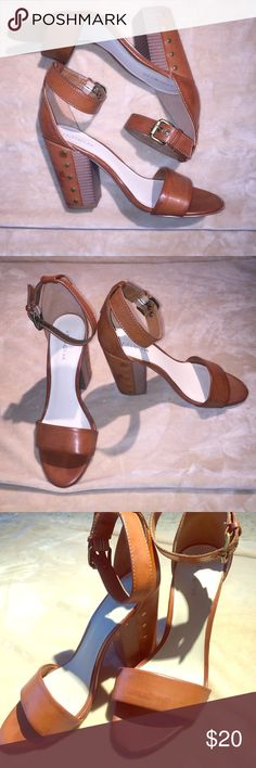 Women's Caramel Colored Heeled Sandals Heels worn once in great condition other than a scrape on left shoe's front (looks better in person than as pictured). I'm certain you'll be satisfied with this purchase if you're looking for that lightweight pair of heeled sandals that you can throw on with a cute pair of jeans to elevate a casual look. Enjoy 💁🏽 indigo rd. Shoes Sandals