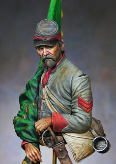 10th Tennessee Flag Bearer, Irish Brigade, ACW (Kit by Stormtroopers) by Ernesto Reyes, Venezulea
