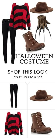 """""""Halloween Costume: Mrs. Freddy Krueger"""" by dnt-get-hacked ❤ liked on Polyvore featuring Ström, Barbour and Head Over Heels by Dune"""
