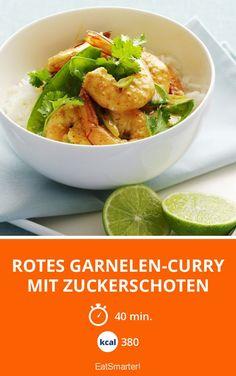 Rotes Garnelen-Curry mit Zuckerschoten - smarter - Kalorien: 380 Kcal - Zeit: 40 Min. | eatsmarter.de