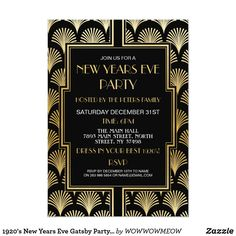 Shop Christmas Art Deco Gatsby Party Gold Fan Invitation created by WOWWOWMEOW. Personalize it with photos & text or purchase as is! Art Deco Invitations, Elegant Invitations, Custom Invitations, Birthday Invitations, Shower Invitations, Invites, Wedding Invitations, Wedding Reception Cards, Wedding Fans
