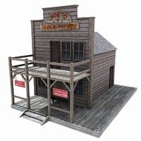 Wild West Buildings Models and Textures Forte Apache, Westerns, Old Western Towns, Train Miniature, Old West Town, Wild West Theme, House 3d Model, Ho Scale Buildings, Model Train Layouts