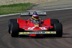 Jacques Villeneuve (CDN) Ferrari T4.  Jacques Villeneuve drives his father Gilles Villeneuve's Ferrari T4, Fiorano, Italy, 8 May 2012