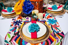 Southern weddings - Mexican style tablescape