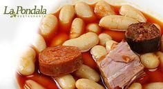 Disfruta la fabada asturiana en nuestro restaurante, un plato de tradición elaborado con los productos típicos de nuestra gastronomía. #LaPondala #fabada #compango #gastronomía #Gijón #Asturias