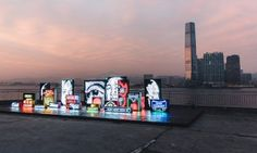"""Here's a Look at Vhils' """"Debris"""" Art Installation in Hong Kong"""