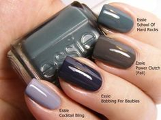 Some great essie colors - greys, blues