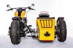Harley Softail Fat Boy with Sidecar Harley Softail, Harley Davidson Sidecar, Harley Davidson Motorcycles, Cb750 Cafe Racer, Scrambler, Bike With Sidecar, Harley Davidson Pictures, Cafe Racer Magazine, Moto Cafe