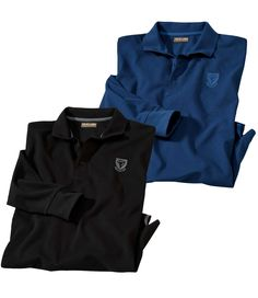 Lot de 2 Polos Maille Piquée #atlasformen #formen #discount #shopping #ootd #outfit #fashion #timeless #instafashion #casual #style #travel #voyage  #winter #hiver