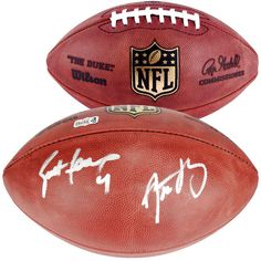 Aaron Rodgers, Brett Favre Green Bay Packers Fanatics Authentic Dual Signed Duke Pro Football - $1119.99