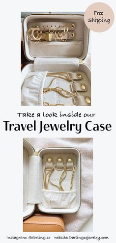 Our new Travel Jewelry Case is now live in our shop! New color options and monograming options to personalize your case. This is the perfect case to keep your special pieces in one place. Traveling with jewelry has never been easier! Shop now at Darlingcojewelry.com