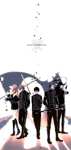 One Piece: Sanji, Nami, Luffy, Usopp, and Zoro