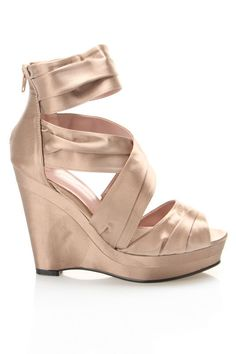 7d86b701ee8b Gwyneth Jelena Wedge Sandal in Nude - Beyond the Rack Colorful Wedding Shoes