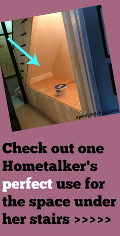 One Hometalker's perfect use for the space under her stairs