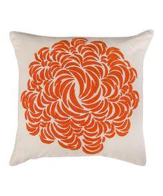 Look at this #zulilyfind! Red & Cream Appliqué Throw Pillow by Rizzy Home #zulilyfinds