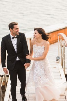 Romantic wedding at the Athens Riviera Lace Wedding, Wedding Dresses, Wedding Moments, Marry Me, Ankle Length, Real Weddings, Romantic, Couples, Athens