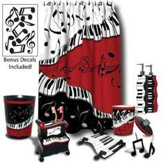 * Music Bathroom set. #music #interiors #bathroom #musicinteriors #decor http://www.pinterest.com/TheHitman14/music-interiordecor-%2B/