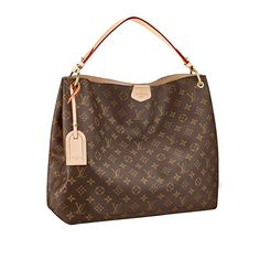 5b7b03f3f61e Louis Vuitton Monogram Canvas Graceful MM Beige Article Made in France