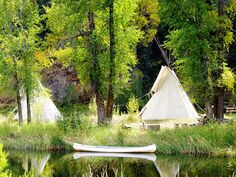 tepees and canoe camping How the west was won Colorado Must See, Visit Colorado, Colorado Usa, Beauty Around The World, Around The Worlds, 50 States Of Usa, Canoe Camping, Treehouses, Indian Summer