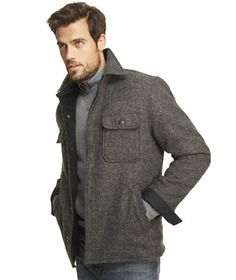 LLBean: Signature Lined Wool-Blend Shirt Jacket | Tweed Plaid Wool ...