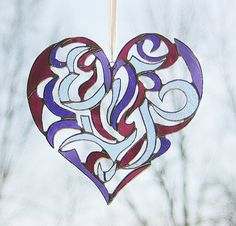 Stained Glass Heart Intricate